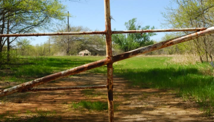 The remains of the circus are now on private property, but you can still see it from the rusty gates.