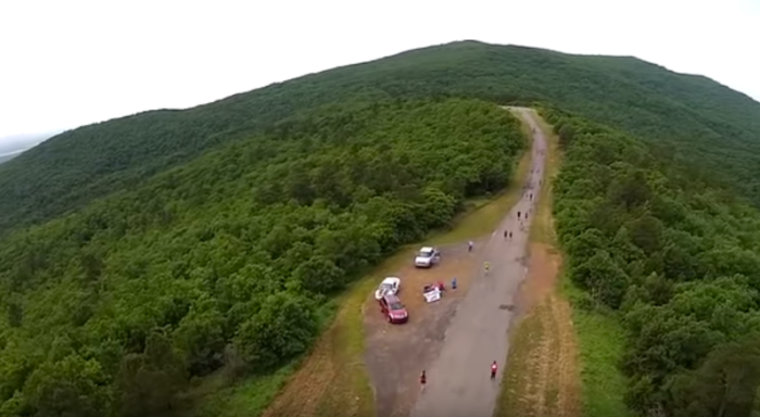 The road is paved the entire route, but be careful of steep grades on your way down the hill.
