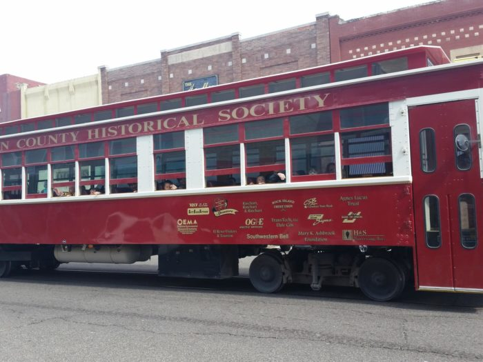 In 2001, the Heritage Express Trolley began operation along the tracks in El Reno. Heritage Express is a fully restored 1924 Brill Motor Car.