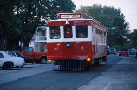 Visitors on the Heritage Express can ride it into downtown, get off and explore, then hop back on when it makes its way through town again.