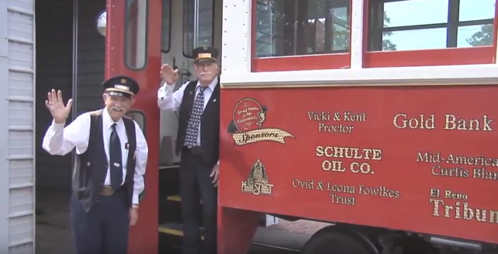 The operators of the trolley will greet  you with a smile and help you get on board.
