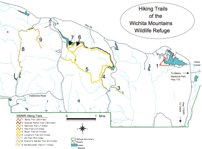 Take your pick of trail lengths from these hikes below, or combine them for longer hikes.