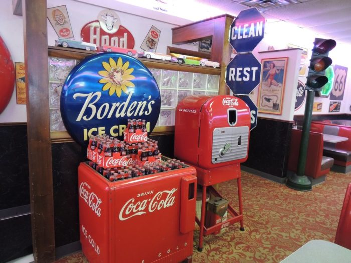 Don't you just love this old school coke display?