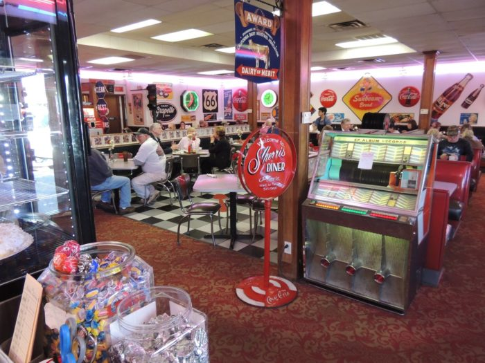 The moment you walk in, you'll feel like you stepped back in time to the 1950s. For over 30 years, Sherri's has been keeping patrons happy with their food, fun atmosphere and hospitable staff.