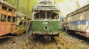 Step Inside This Eerie Graveyard In Pennsylvania Where Trolleys Go To Die