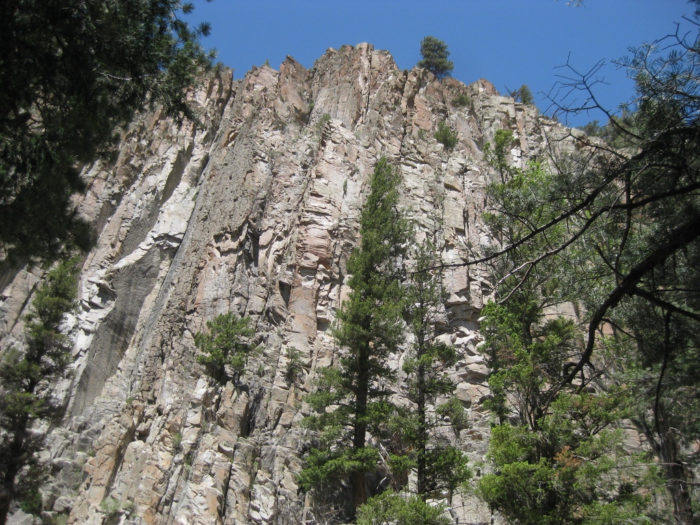 Inside this state park, you'll find Palisades Sill. It's 300-feet high and 40 million years old!