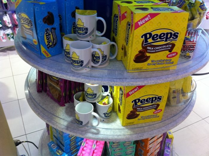You might be surprised to learn Peeps come in different flavors and they even have chocolate flavor peeps for an extra kick.