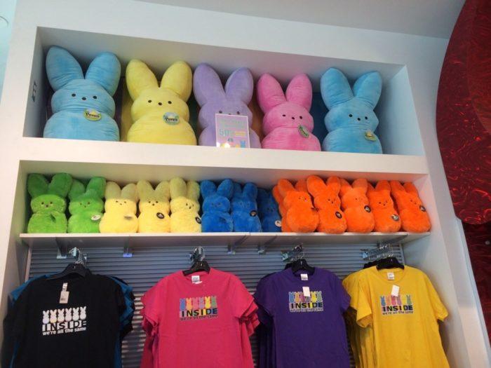 The store sells lots of Peep style merchandise or Peep art.