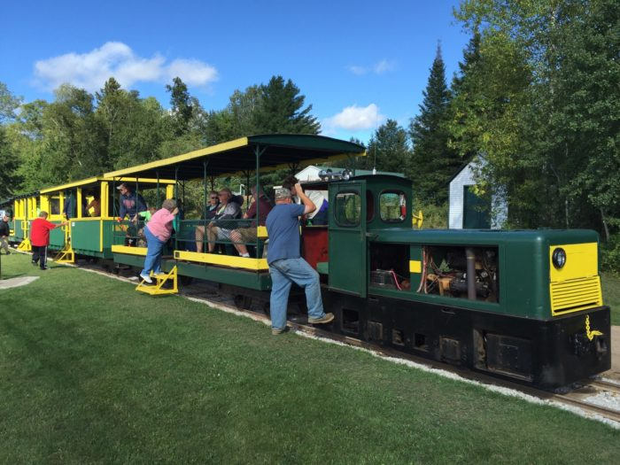 Once you hop on the charming trolley, you'll spend more than an hour riding through the stunning scenery of Northern Michigan.