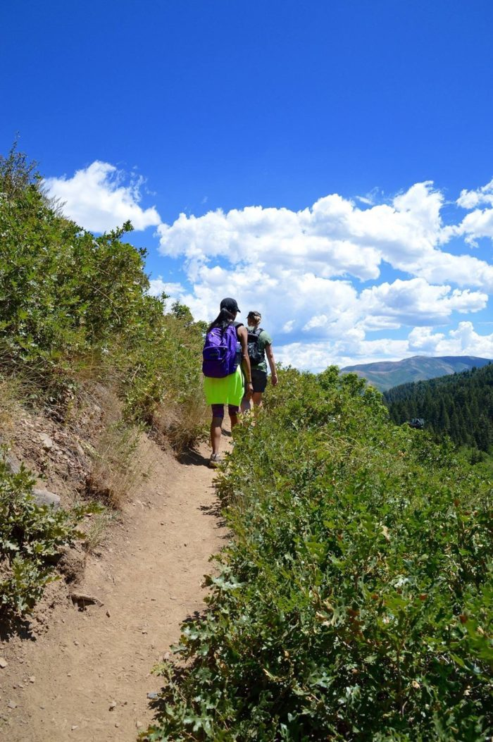 The trail is just over four miles out and back. Get ready for some gorgeous scenery!