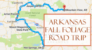 Take This Gorgeous Fall Foliage Road Trip To See Arkansas Like Never Before