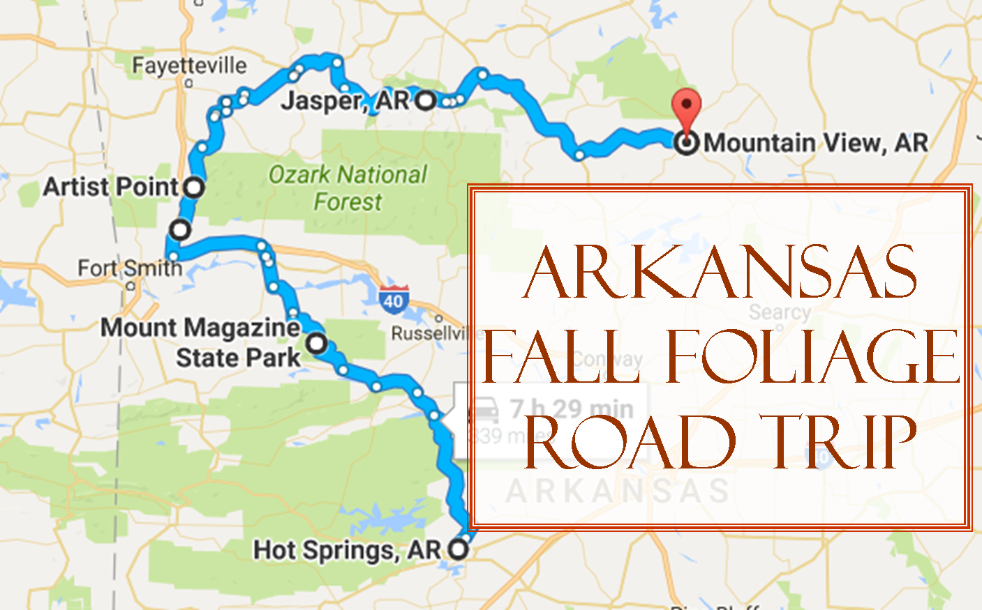 Take This Fall Foliage Road Trip To See Arkansas Like Never Before