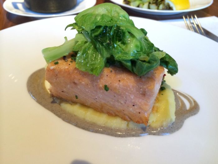...Try the slow cooked wild Alaskan king salmon...