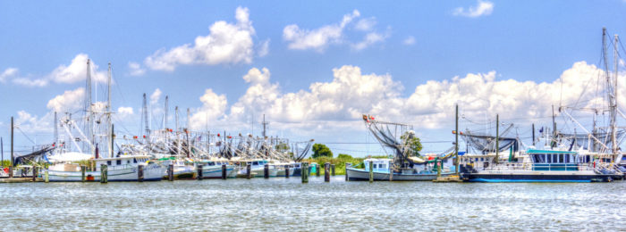 At the end of this road you'll reach Venice, LA, giving you an awesome perspective on the shrimping industry here.