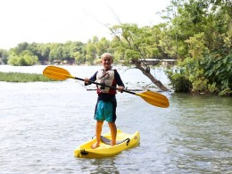 ...or let them try their hand at stand-up paddleboarding (I usually spend most of my time in the water).