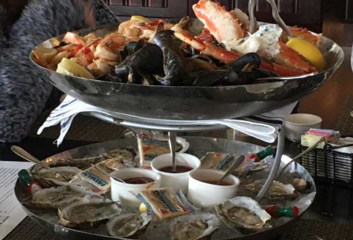 They even have an incredible raw bar selection of seafood.