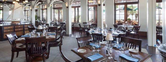 However, there is one dining option in The Sea Island Beach Club that will make you feel like a million miles away from everything—Southern Tide.