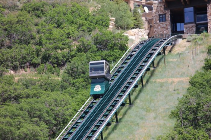 The Swiss-made funicular cars are heated and air-conditioned. As you ascend in your funicular car, you'll enjoy stunning views of the valley below.