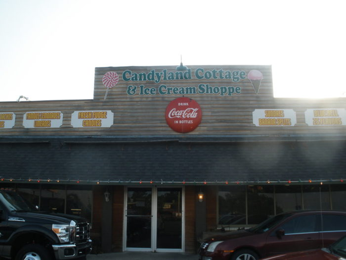 Candyland Cottage in Rayne is a charming and cozy candy and ice cream shop.