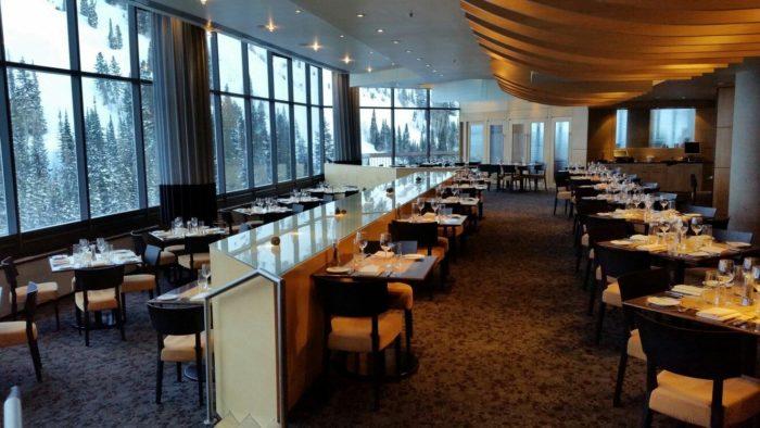 11. Visit Utah's ski resorts for excellent dining.