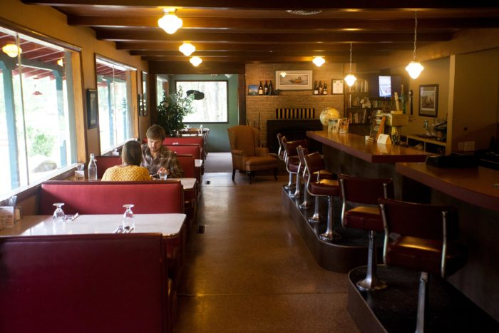 Owners Betsy Bowen and Peter Grubb renovated Syringa Cafe in 2004, as part of a larger plan to create a lodge.