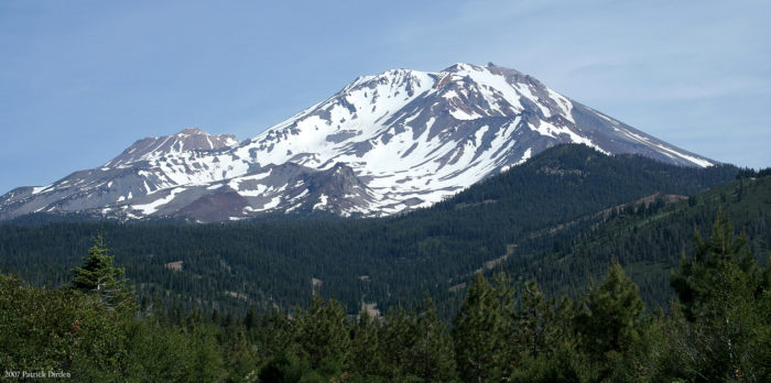 Located about 45 miles from the Oregon border is one of the most beautiful mountains in the world -- Mount Shasta. It's the second highest mountain in the Cascade Mountain Range and comes in at 14,162 feet tall. A dormant volcano, there's a lot of creepy stories that surround her.