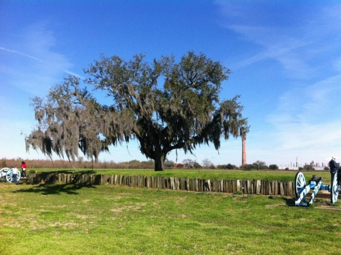 This was the site of the January 8, 1815 Battle of New Orleans.