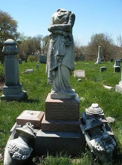 vandalized monument
