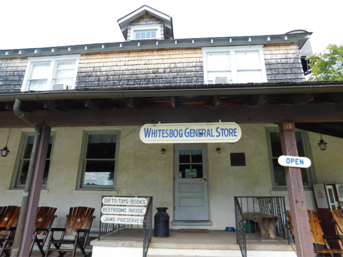 The general store is open on weekends and offers unique gifts along with delicious jams and preserves.