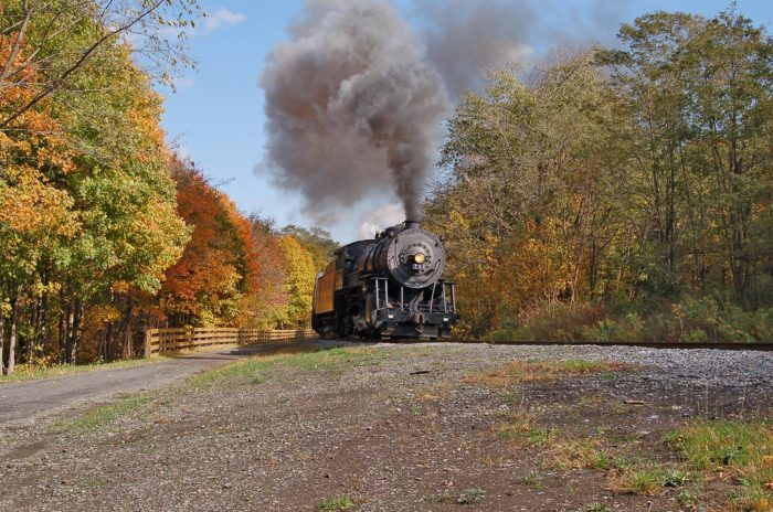 Once on board, the route takes you through the Allegheny Mountain, over iron truss bridges and through the 914 brush tunnel under Piney Mountain.