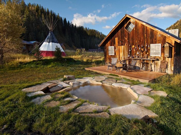 """Named to Conde Nast Traveler Magazine's Gold List and awarded the fourth """"Best Hotel for Food Lovers in America"""" by Bon Appétit Magazine, Dunton Hot Springs is a one-of-a-kind resort complete with six perfect pools of all-natural mineral waters..."""