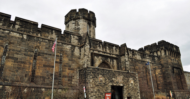 The Philadelphia skyline has certainly evolved since Eastern State Penitentiary first opened in 1829. An intimidating castle-like structure, the prison featured 253 cells.