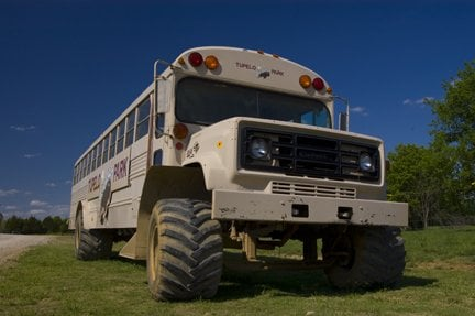 Or the Monster Bison Bus. On both tours, you'll learn interesting facts from the guide and get to feed the animals.