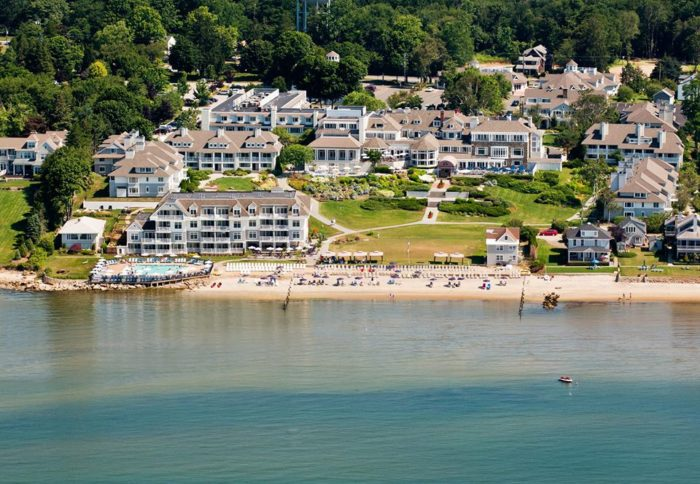 Water's Edge Resort & Spa is located in Westbrook. It offers premier views of the Long Island Sound and has been drawing people in for decades. It's a real hidden gem!