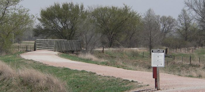 The Cowboy Trail occupies the abandoned Chicago and North Western Railway route across the Nebraska Outback.