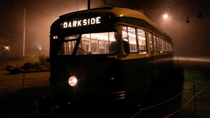 This has to be the scariest trolley ride in all of New England.