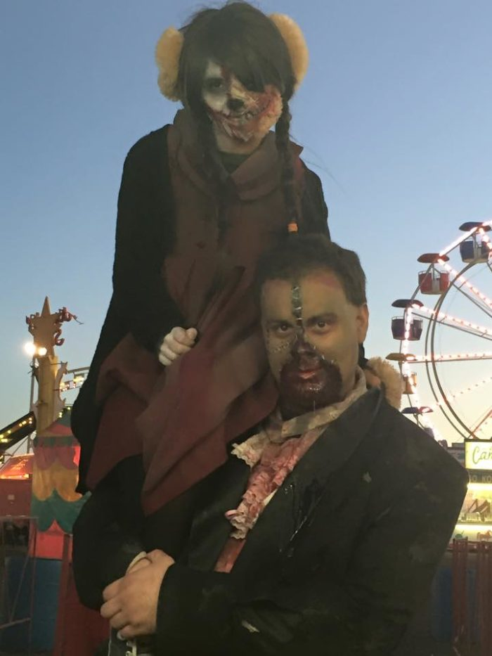 "You'll enjoy meeting all of the characters that roam the haunted ""scream park""."