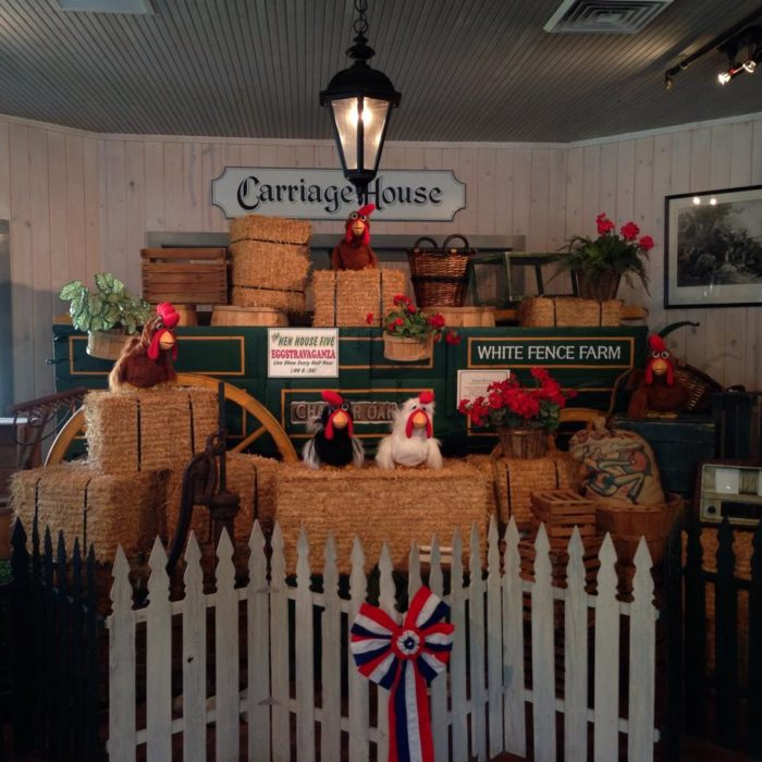 """Stop by """"The Hen House Five Eggstravaganza"""" and enjoy a little chicken show."""