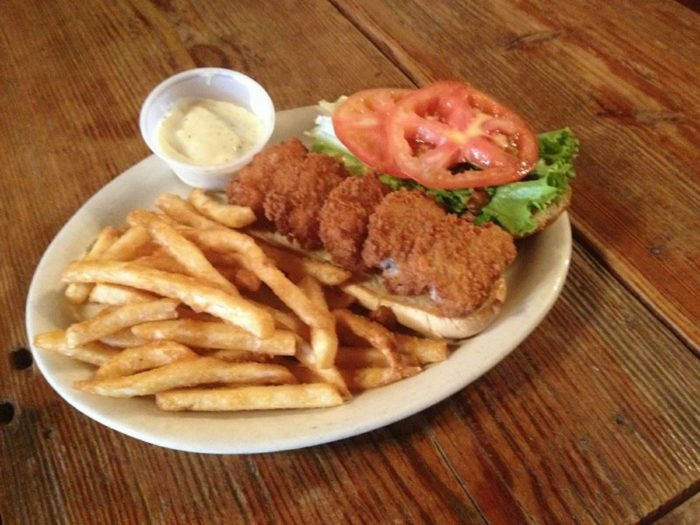 Their fried catfish sandwiches will reel you in.