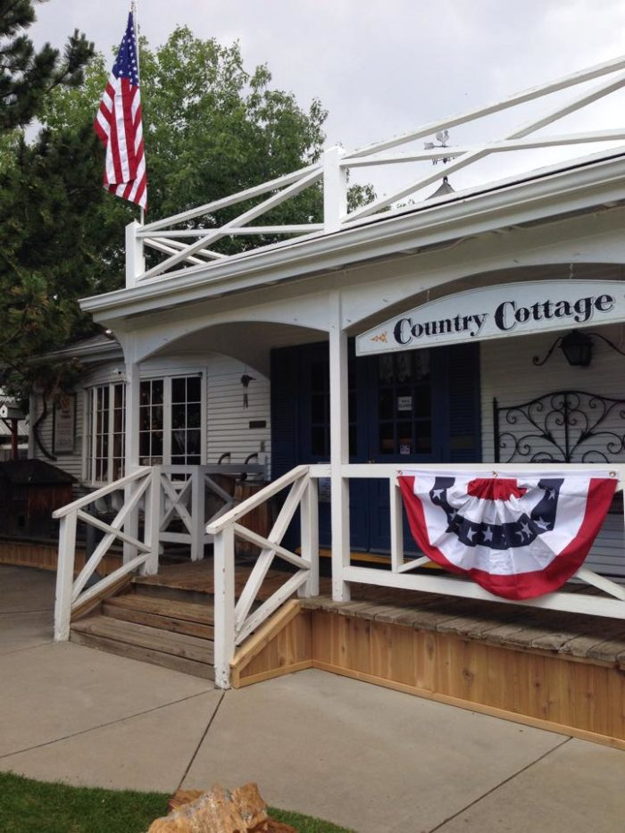 The Country Cottage is a lovely shop to find one-of-a-kind gifts and antiques or to simply kick back in a rocking chair on the porch.