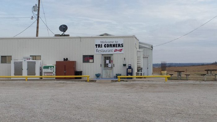 Now that you have worked up an appetite, it's time for a late lunch/early dinner at what is quite possibly the most unique restaurant in all of Kansas: the Tri-Corner Restaurant, Bait & Convenience Store.