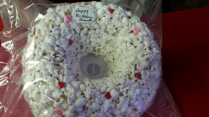 "Popcorn fanatics can even have their favorite treat made into popcorn ""cakes"" for any occasion."