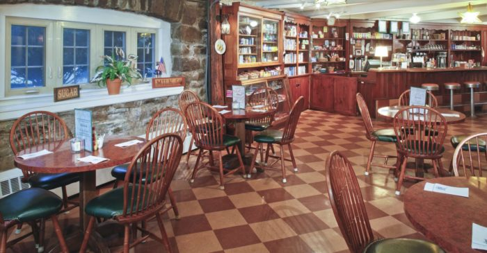 Tantalize your taste buds at the Skytop restaurants - the Tea Room (pictured), the Windsor Dining Room, the Lakeview Restaurant, the Library Lounge, and the Inn-Between Deli.