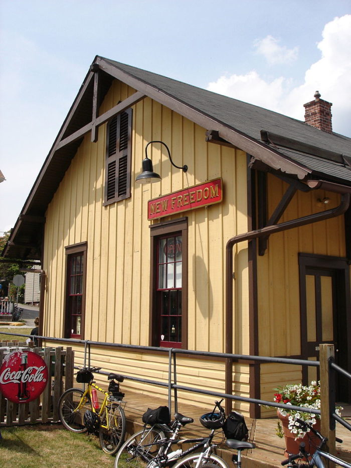 You might want to detour to the New Freedom Junction, once a railroad station and now a museum.