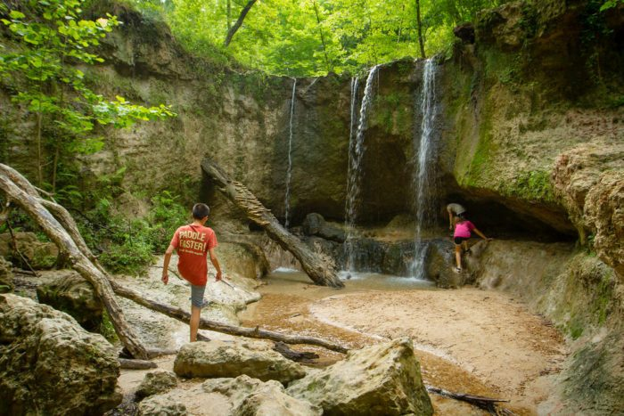 """Woodville is also home to one of Mississippi's """"most beautiful outdoor treasures,"""" the Clark Creek Nature Area. Comprised of varying terrain and more than 50 waterfalls, the area spans over 700 acres and includes both primitive and improved hiking trails."""