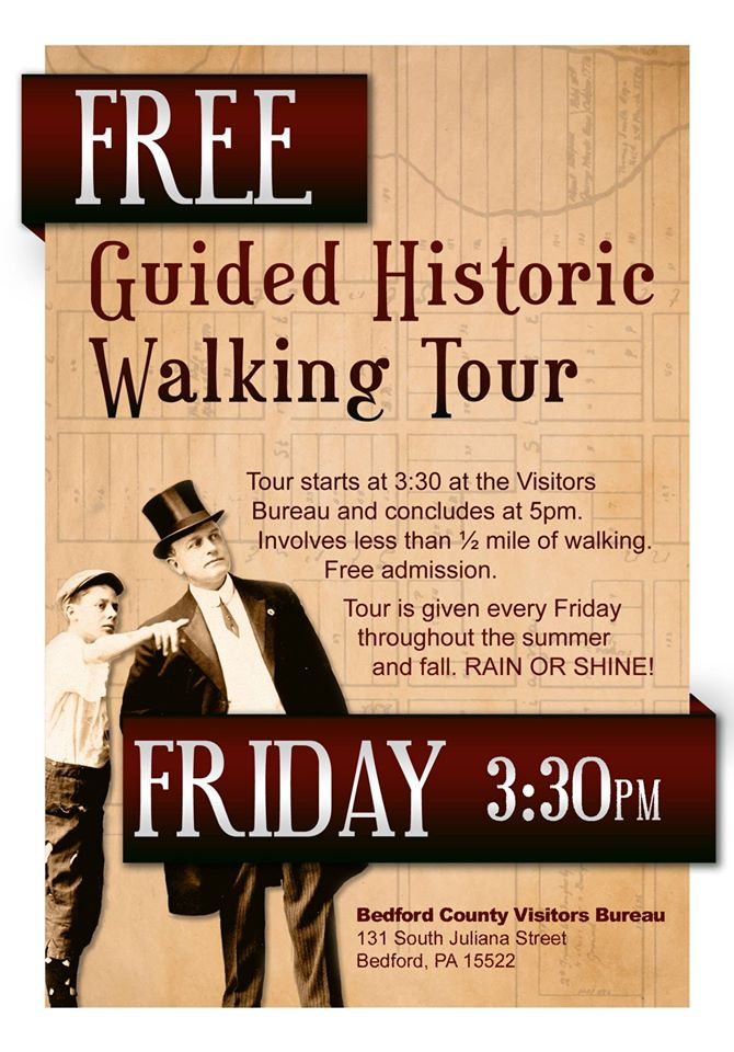 Discover the secrets of Downtown Bedford by joining a guided historic walking tour. Free walking tours are held every Friday at 3:30 p.m. from May through October. Go to the Visitors Bureau for the start of the tour.