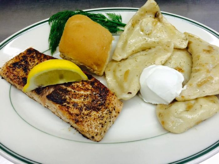 These specials can be served with things like homemade meatballs, sausage, or even salmon.