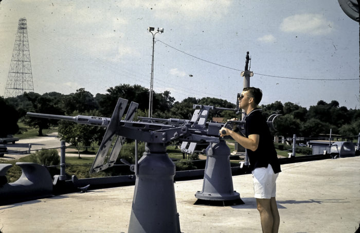 You can even play around with the guns mounted on deck that were once used to shoot at other warships.