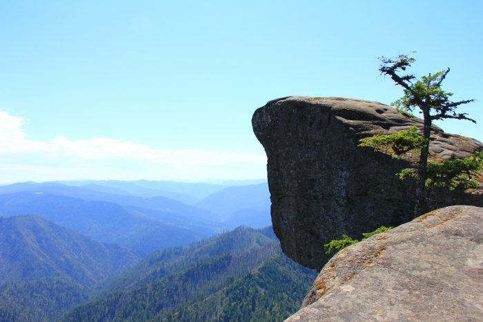 If you can muster up the courage to look over the edge, you'll see the winding Rogue River 3600 feet below you. You'll also see the expansive Wild Rogue Wilderness and Eden Valley.