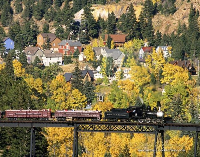 ...opportunity to enjoy the changing colors from aboard the Georgetown Loop Railroad...